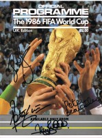 Signed World Cup 1986 Brochure
