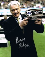 Signed Sir Bobby Robson Newcastle photo