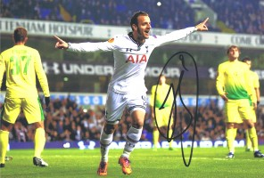 Signed Roberto Soldado Tottenham Photo
