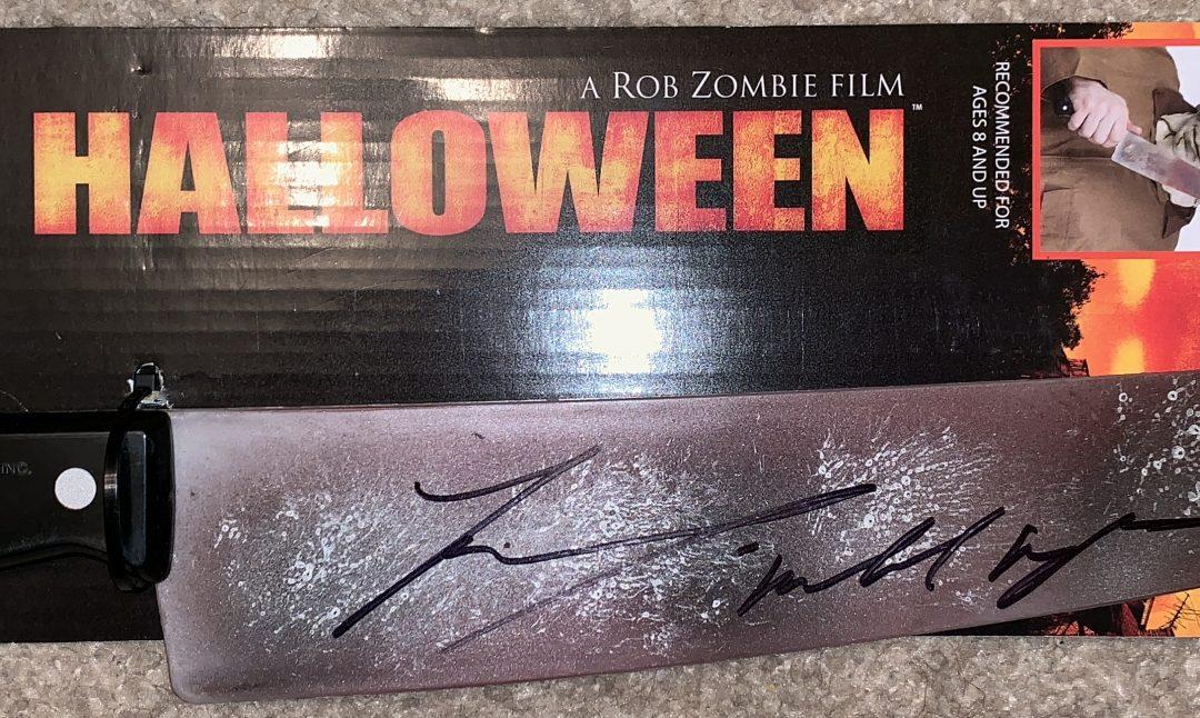 Signed Tyler Mane Halloween Michael Myers Replica Prop Knife