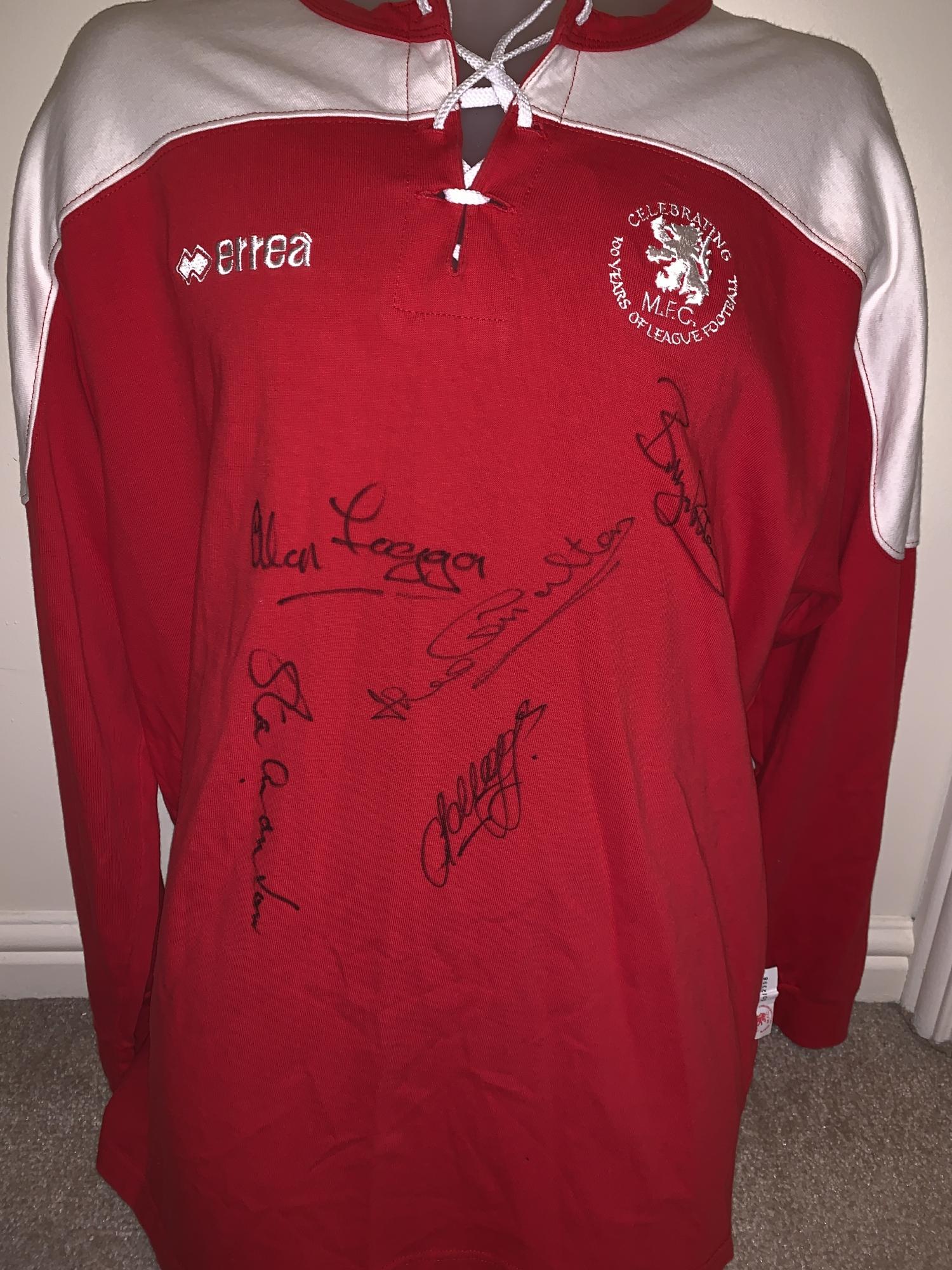 pretty nice 1c179 96825 Multi Signed Middlesbrough Centenary Shirt