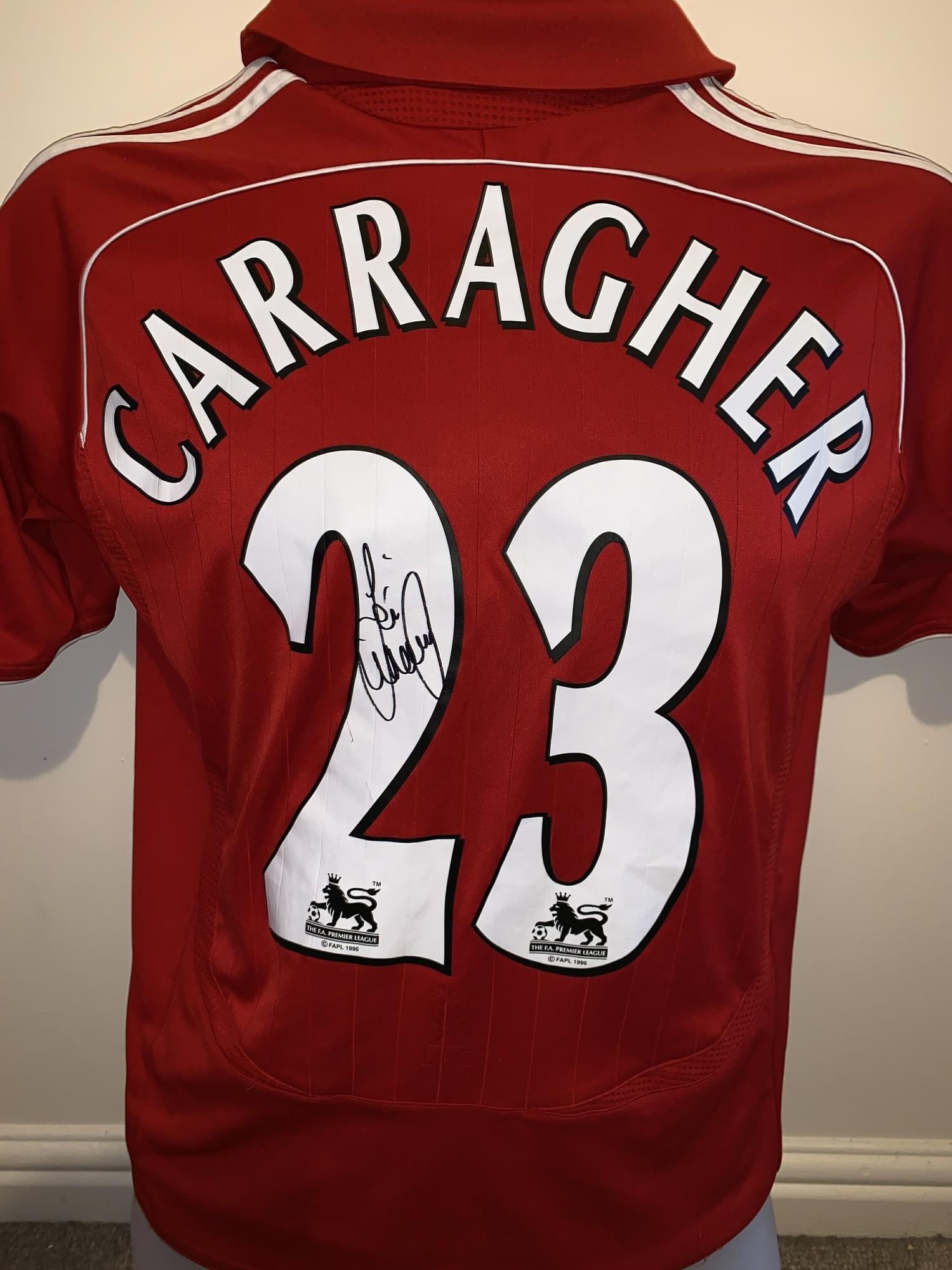 b775c2c26 Signed Jamie Carragher Liverpool Shirt